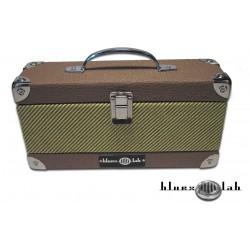 Bluexlab Upright Harmonica Case -  Tweed-Brown
