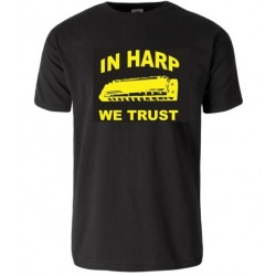 """In harp we trust"" t-shirt"