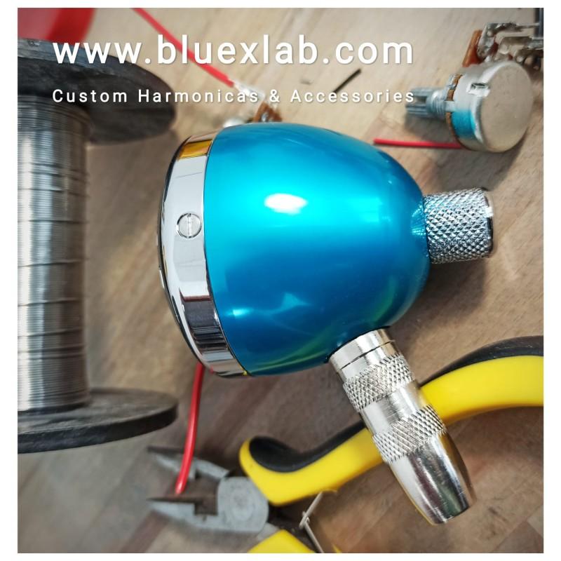 Bluexlab Mini-Bullet Harp Microphone - Turquoise